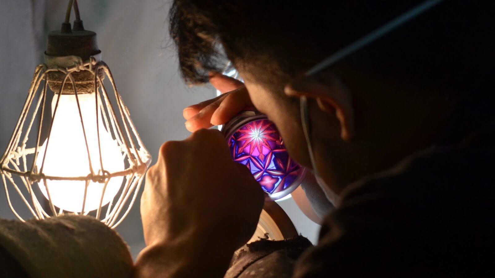 Cristalería Shimazu de Satsuma Kiriko