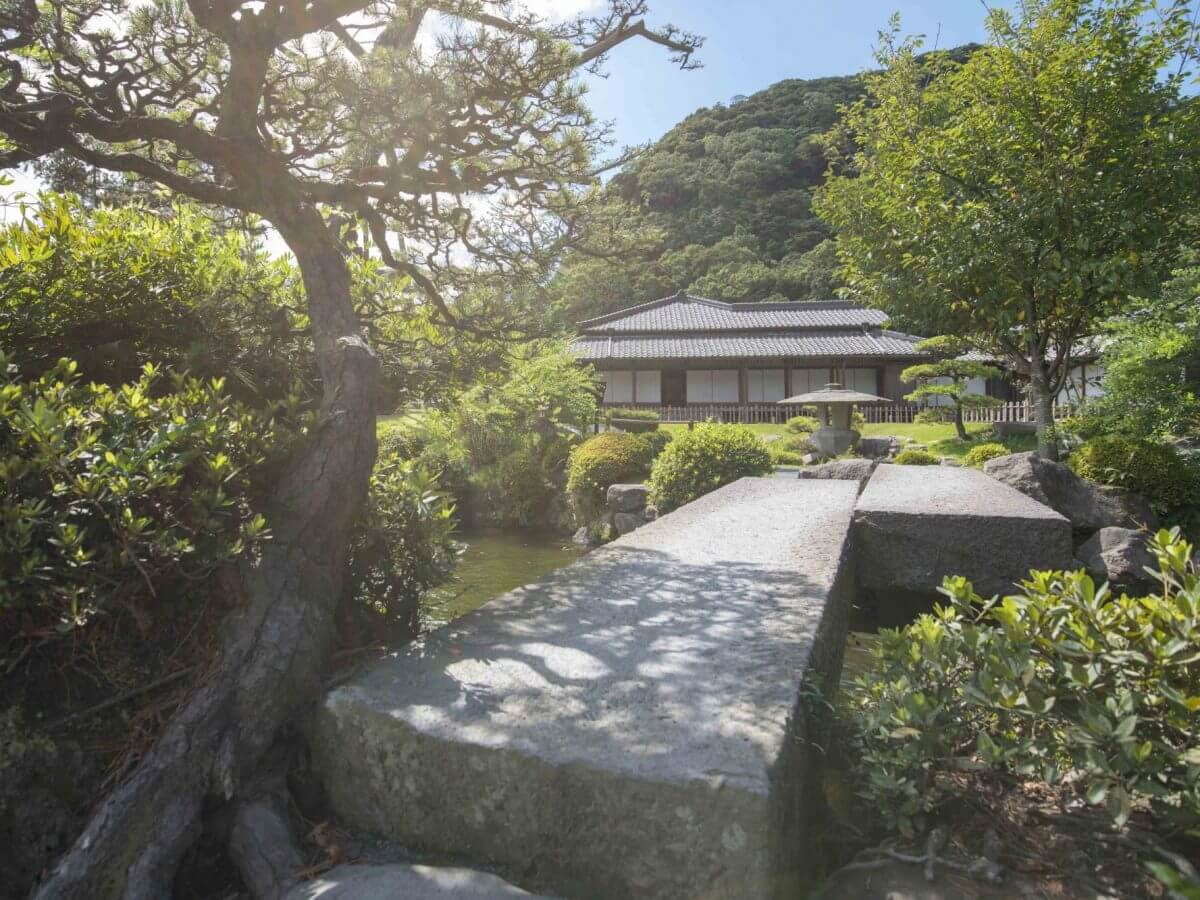 Stately home and gardens of the Shimadzu family