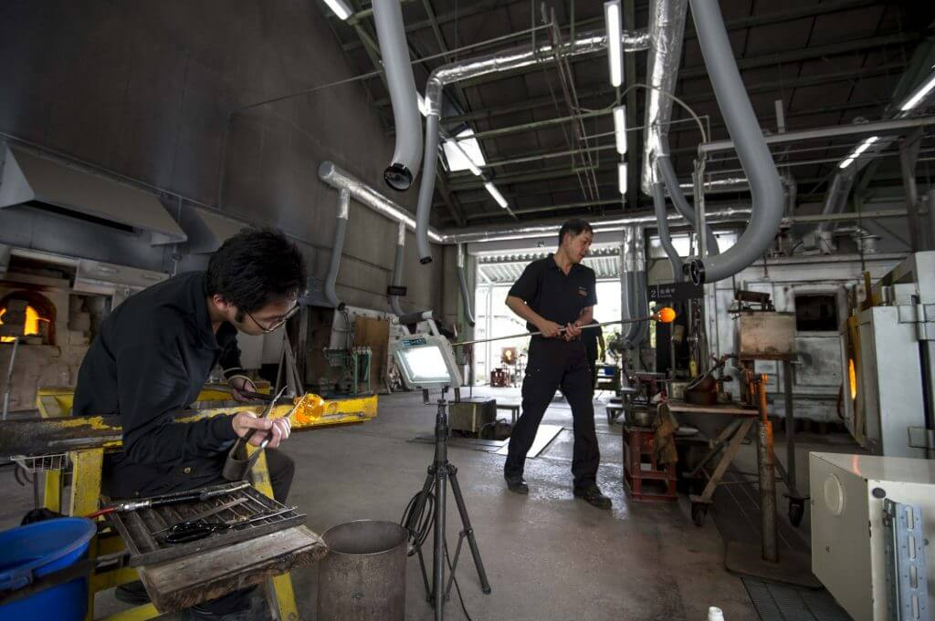 Satsuma Kiriko Glassworks Japanese artisans