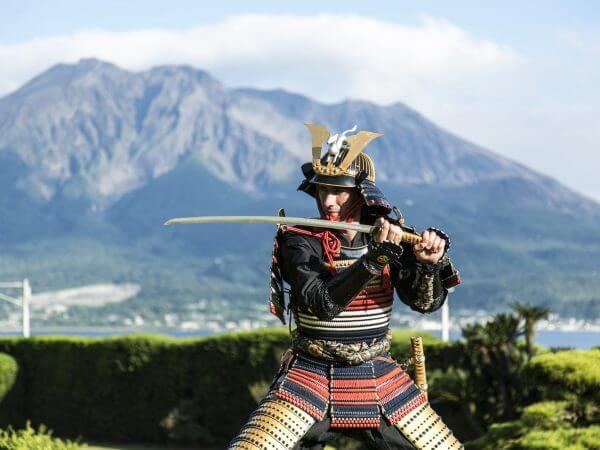 Esperienza con le armature dei samurai Shimadzu