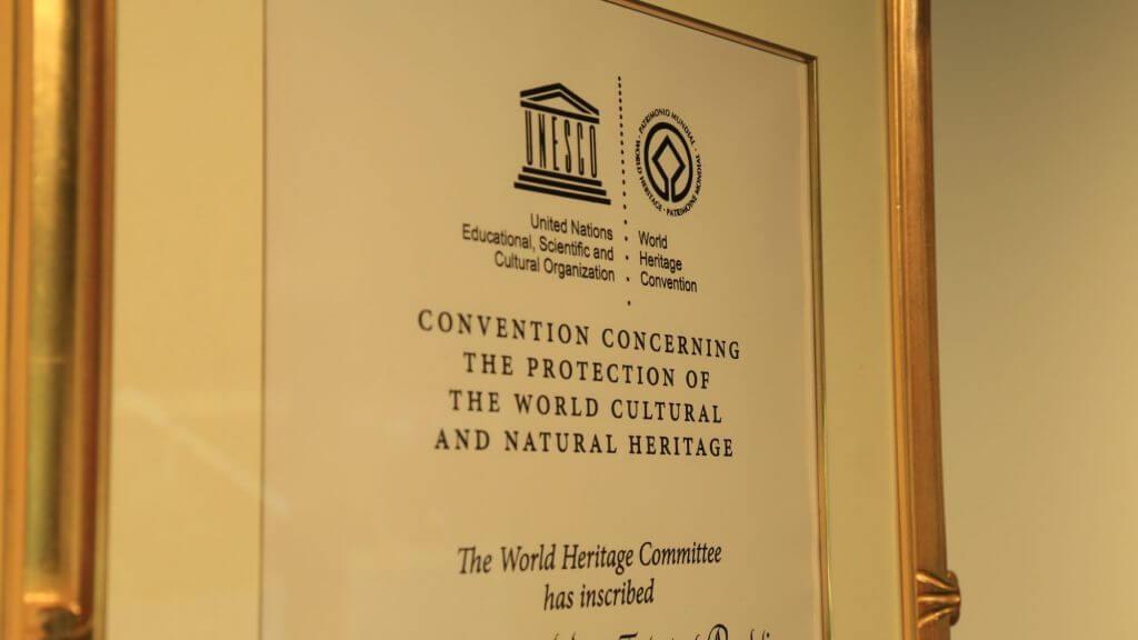 世界遺産登録認定書