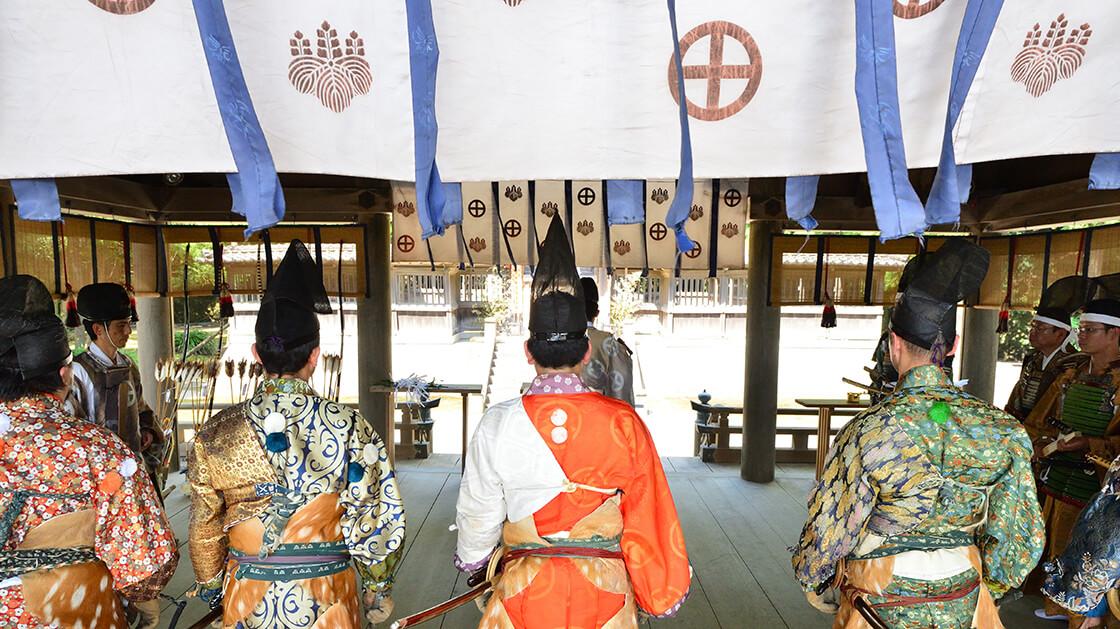 samurai at shrine