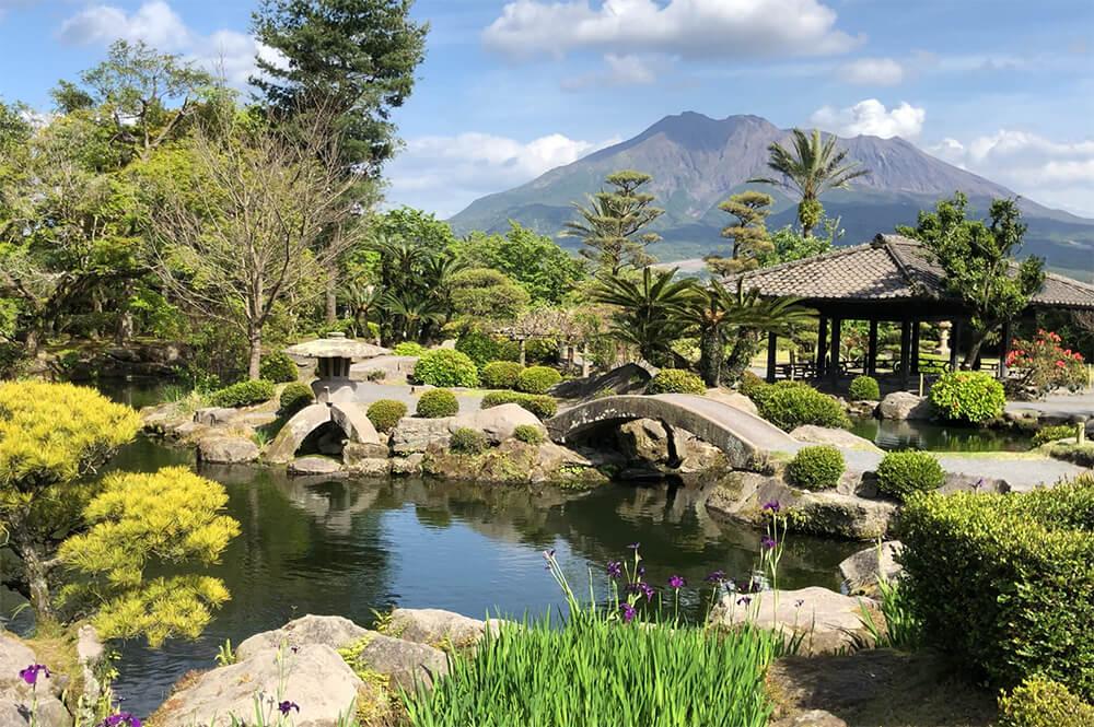 鹿児島 観光 仙巌園 庭園 桜島